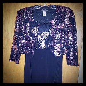 Alex evenings dress and matching jacket